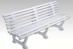 banc plastique confort blanc 2m