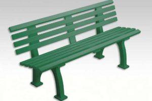 banc plastique vert1m50