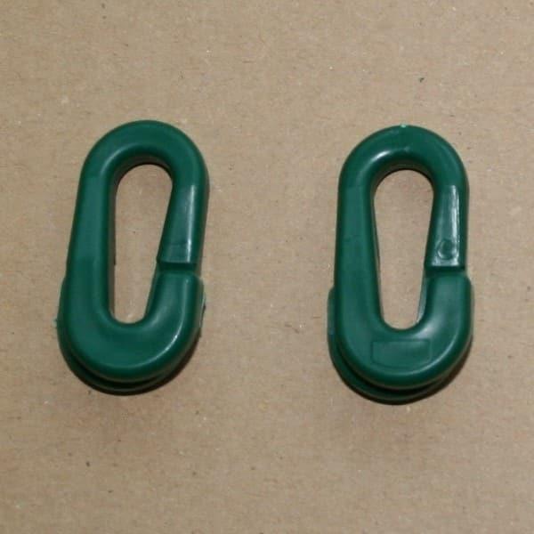 Anneaux brisés polypropylène verts - le cent